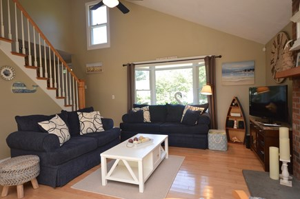 Orleans Cape Cod vacation rental - Living room with vaulted ceiling and flat screen tv