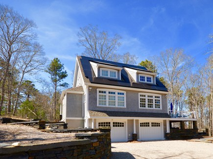 Orleans Cape Cod vacation rental - View of home from driveway entrance- solar panels