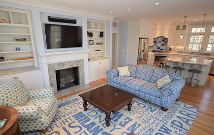 Orleans Cape Cod vacation rental - Main Floor open Living Room open to chef`s kitchen