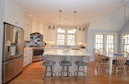 Orleans Cape Cod vacation rental - View of kitchen from living room- top of the line appliances