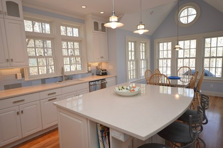 Orleans Cape Cod vacation rental - Large brand new chef`s kitchen with large center island.