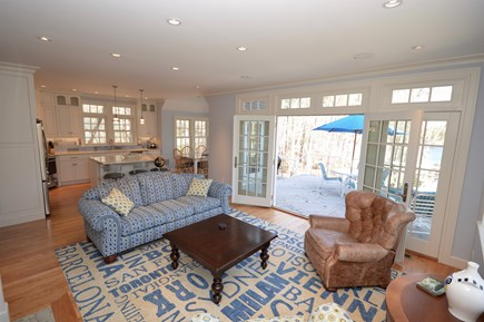 Orleans Cape Cod vacation rental - Main Floor Living room, water views open to deck