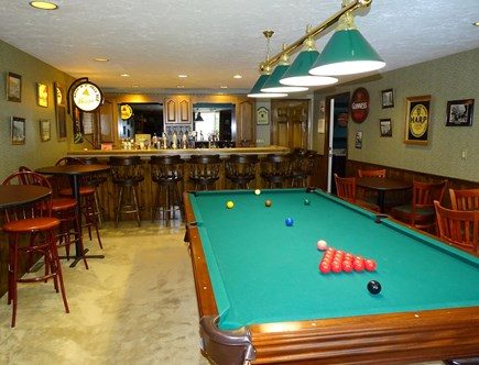 Barnstable Village Cape Cod vacation rental - Irish Pub with pool table and lots of seating
