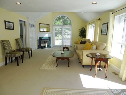 Barnstable Village Cape Cod vacation rental - Living room-Cathedral Ceilings, opens to deck area