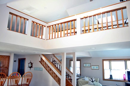 Sandwich, Town Neck Cape Cod vacation rental - View of 3rd floor loft from main floor