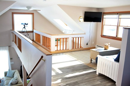 Sandwich, Town Neck Cape Cod vacation rental - 3rd floor loft catwalk to ocean views