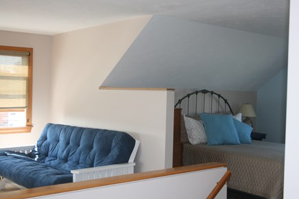 Sandwich, Town Neck Cape Cod vacation rental - 3rd floor loft TV sitting area with queen bed