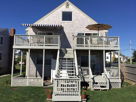 Sandwich, Town Neck Cape Cod vacation rental - Beach-side view of house