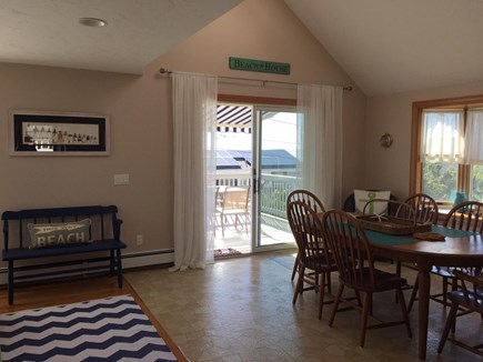 Sandwich, Town Neck Cape Cod vacation rental - Dining with sliders to 2nd floor beach side deck