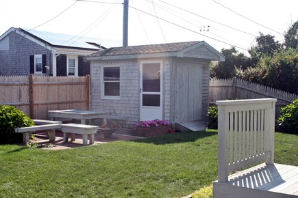 Sandwich, Town Neck Cape Cod vacation rental - Back yard patio area