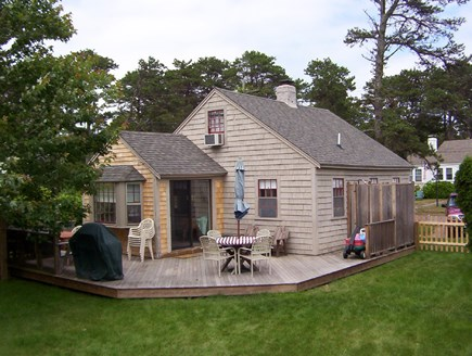 Dennisport Cape Cod vacation rental - Back of House, Yard, and Sun Deck