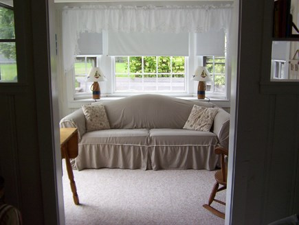 Dennisport Cape Cod vacation rental - Sun Room with Sleep Sofa & Access to the Deck