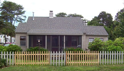 Dennisport Cape Cod vacation rental - Front View with Screened in Porch