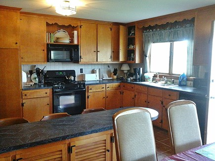North Falmouth Cape Cod vacation rental - Breakfast bar and kitchen from dining area