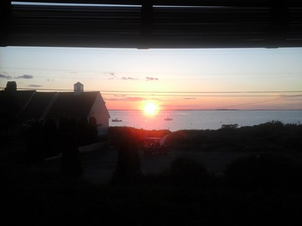 North Falmouth Cape Cod vacation rental - Sunset from LR picture window