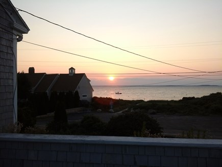 North Falmouth Cape Cod vacation rental - Sunset from raised deck