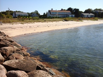 North Falmouth Cape Cod vacation rental - Private assoc beach looking toward the house