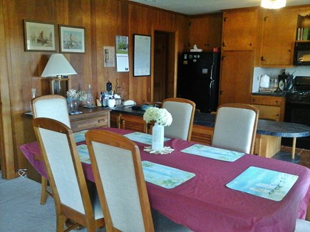 North Falmouth Cape Cod vacation rental - Dining area and kitchen from LR