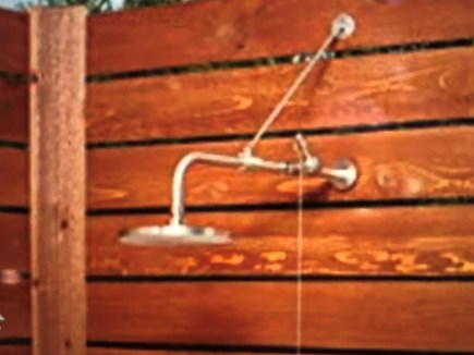 Scargo Lake, Dennis Cape Cod vacation rental - Open Outdoor Shower for rinsing off.