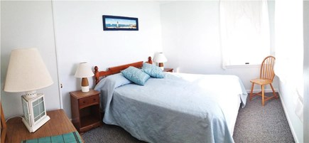 West Dennis Cape Cod vacation rental - Master bedroom with queen bed and water views