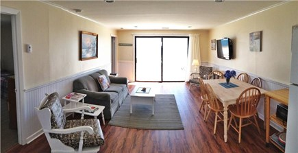 West Dennis Cape Cod vacation rental - Step into the living room from the deck