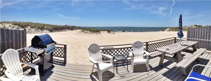 West Dennis Cape Cod vacation rental - House sits directly on the Beach with a large deck