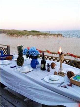 West Dennis Cape Cod vacation rental - Dine outside on the beach!