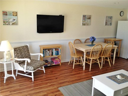 West Dennis Cape Cod vacation rental - Living room w/wall mounted 40 inch HDTV
