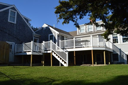 East Dennis Cape Cod vacation rental - Back of house and deck