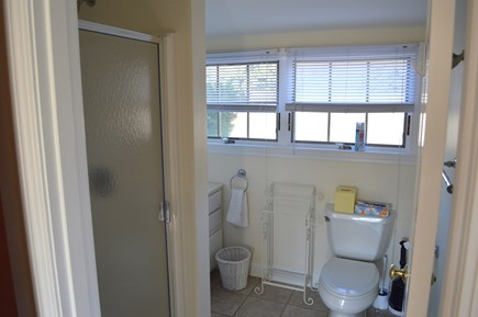 East Dennis Cape Cod vacation rental - King master bath above garage