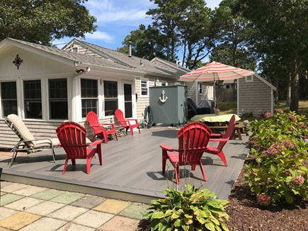 South Yarmouth Cape Cod vacation rental - Back deck w/BBQ