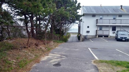 Dennisport Cape Cod vacation rental - Peak of the ocean down the driveway