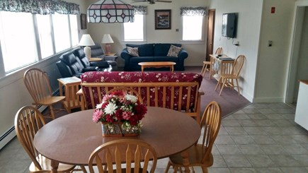 Dennisport Cape Cod vacation rental - Large living/dinning  room with large window A/C