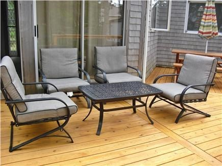 Eastham Cape Cod vacation rental - Deck sitting area