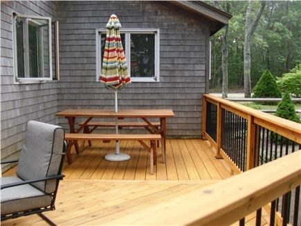Eastham Cape Cod vacation rental - Deck dining area