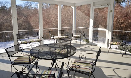 Orleans Cape Cod vacation rental - Screened-in porch for outdoor dining