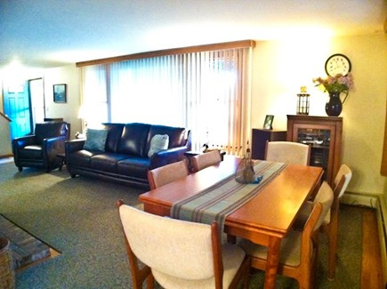 Brewster Cape Cod vacation rental - Large, comfortable living room with a dining area