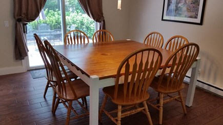 Eastham Cape Cod vacation rental - Kitchen Table with Seating for 8, slider opens to patio