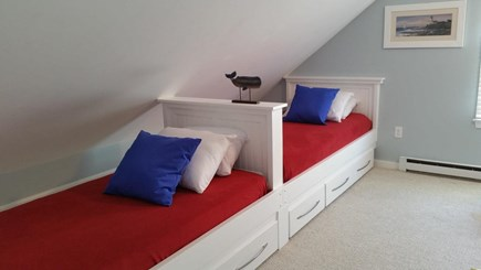 Eastham Cape Cod vacation rental - Bedroom 5, 2 of 4 Twin Beds (storage under)