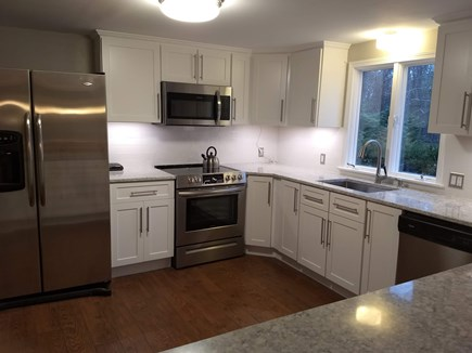 Eastham Cape Cod vacation rental - Remodeled kitchen with new oven, microwave & countertops