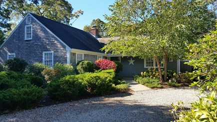 Eastham Cape Cod vacation rental - Front View of Home with Circular Driveway and Ample Parking