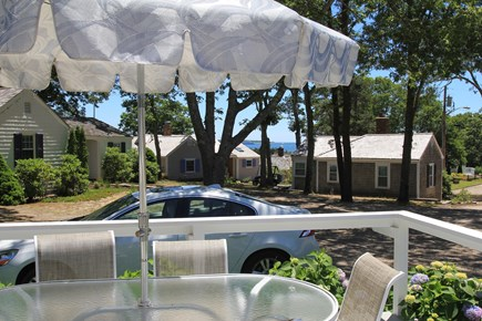 Hyannis Port Cape Cod vacation rental - Large deck with ocean views comfortable furniture, gas grill.