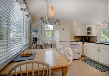 Hyannis Port Cape Cod vacation rental - Kitchen is light and bright. Great space, fully equipped,lg table