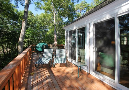 Barnstable, Hyannis Port Cape Cod vacation rental - The deck is very private, peaceful &surrounded by trees