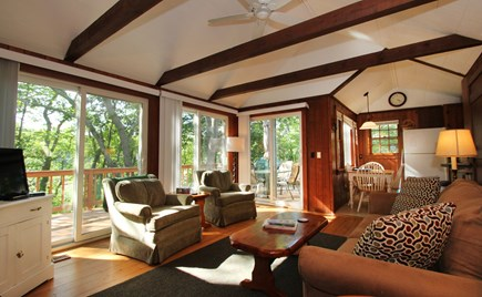 Hyannisport Cape Cod vacation rental - The livingroom offers a flat screen tv,fplce and lots of space.