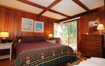 Hyannisport Cape Cod vacation rental - Master Bedroom with Slider to very private deck.