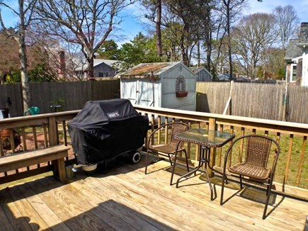 Yarmouth Cape Cod vacation rental - Outside, there is a nice deck with a gas grill.