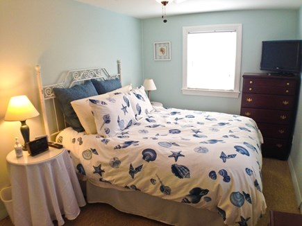 Yarmouth Cape Cod vacation rental - The 2nd bedroom has a full bed, AC, TV, and ceiling fan.