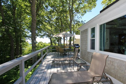 Hyannisport Cape Cod vacation rental - Deck enjoy peace and serenity with ocean views as a bonus.