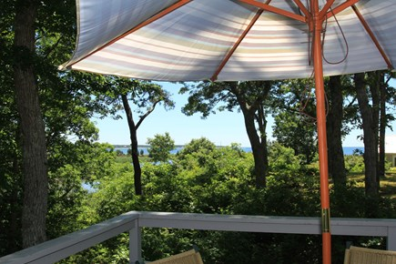 Hyannisport Cape Cod vacation rental - Deck  amazing water view with lots of privacy